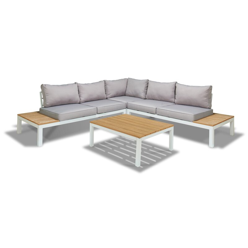 Schneider 4 Piece Sectional Seating Group with Cushion  sc 1 st  Wayfair : 4 piece sectional - Sectionals, Sofas & Couches