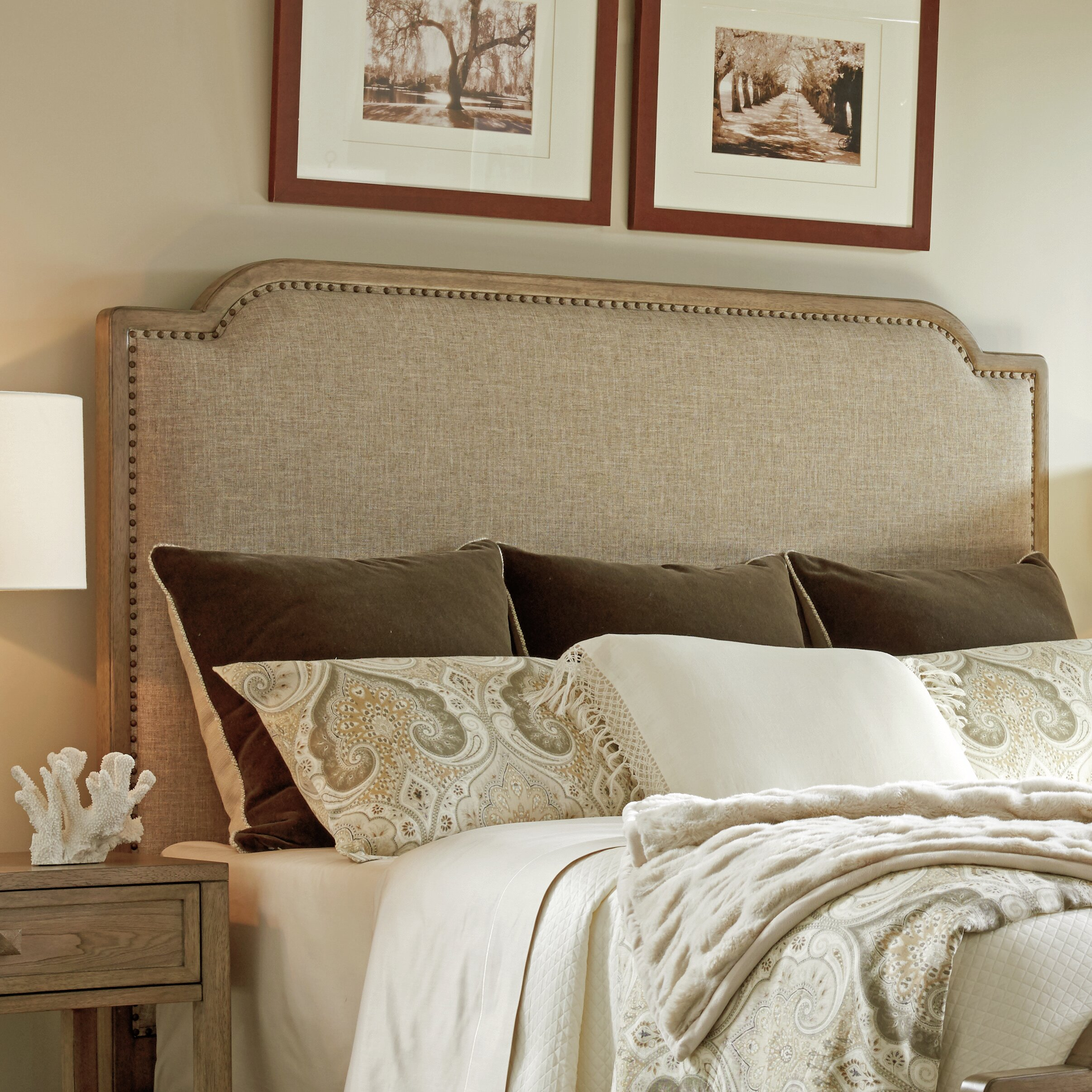 Tommy Bahama Home Cypress Point Upholstered Panel Headboard Perigold