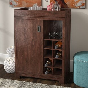 Groff Bar Cabinet with Wine Storage by Mercury Row