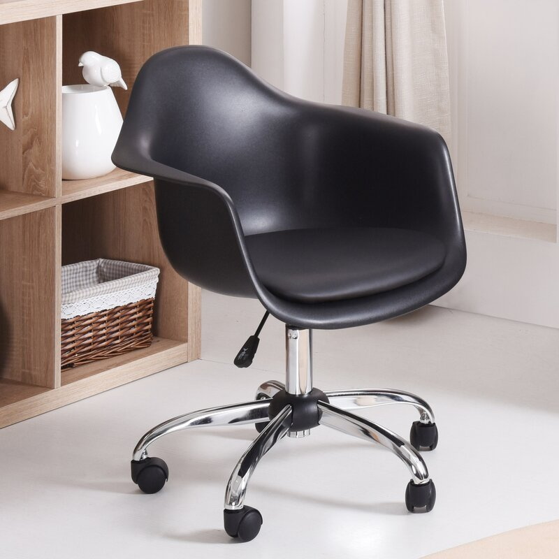 varick gallery marine park rolling desk chair & reviews   wayfair
