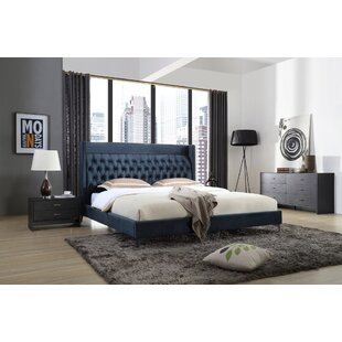 Manan Upholstered Platform Configurable Bedroom Set