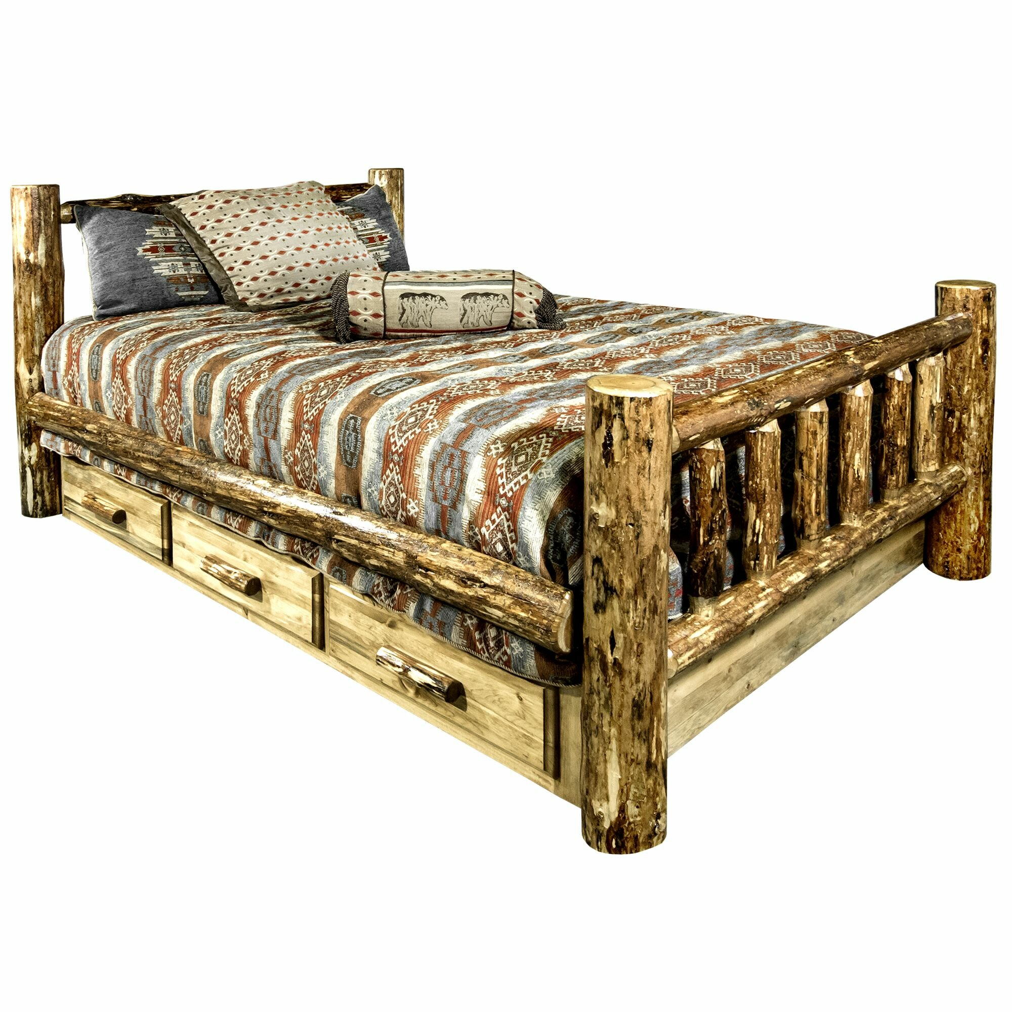 Loon Peak Tustin Solid Wood Storage Standard Bed Reviews Wayfair