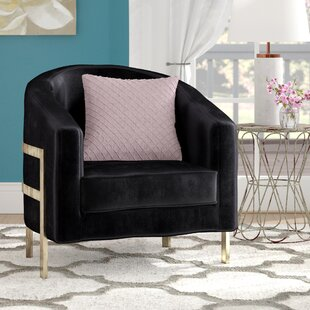 Maddox Barrel Chair by Everly Quinn