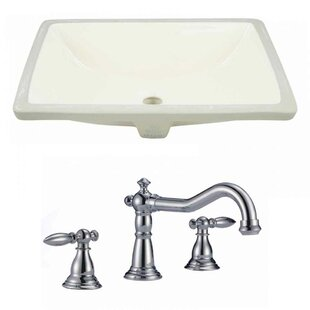 Compare & Buy CUPC Ceramic Rectangular Undermount Bathroom Sink with Faucet and Overflow By American Imaginations