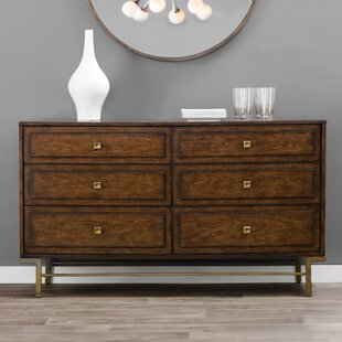 Langley Street Copper Canyon 6 Drawer Double Dresser