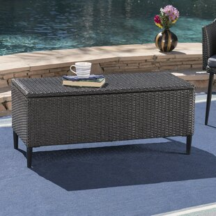 Brayden Studio Agassic Outdoor Wicker Deck Box