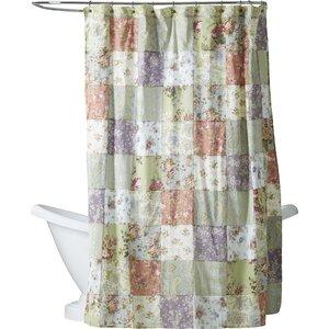 Bauer Patchword Cotton Shower Curtain