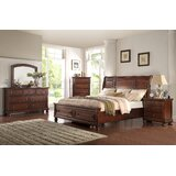 Vitela Queen Standard Solid Wood 4 Piece Bedroom Set by Darby Home Co