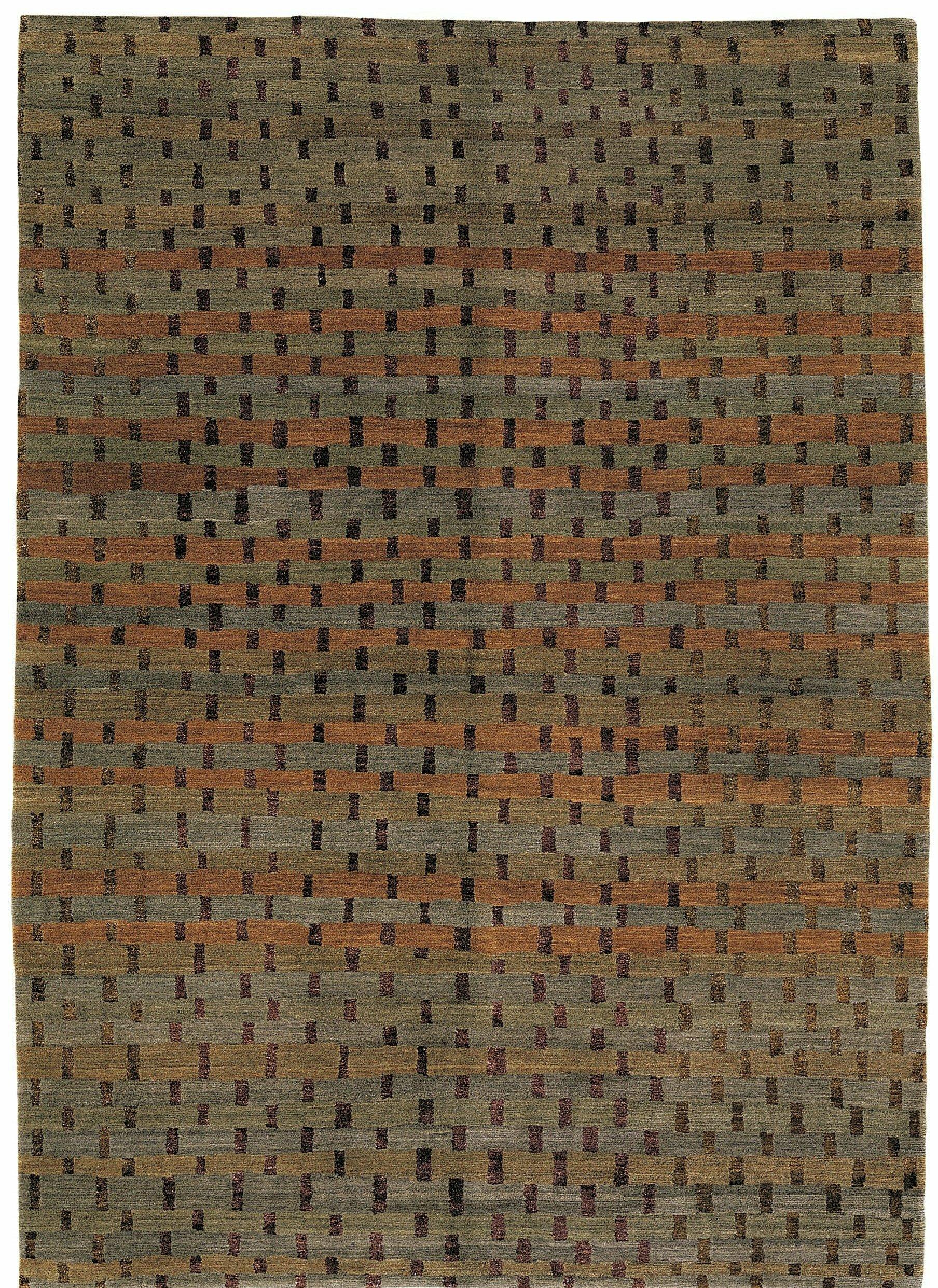 Tufenkian Rag Geometric Hand Knotted Brown Area Rug Wayfair