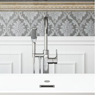 Round Single Handle Freestanding Tub Filler Trim with Hand Shower By Jacuzzi®