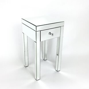Thirza Mirror End Table by Willa Arlo Interiors
