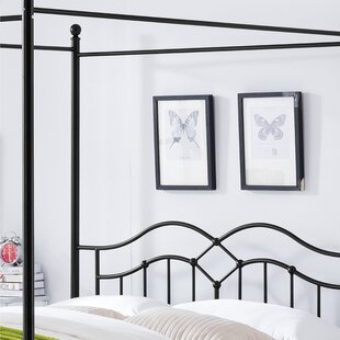 Virgilina Traditional Iron Queen Canopy Bed