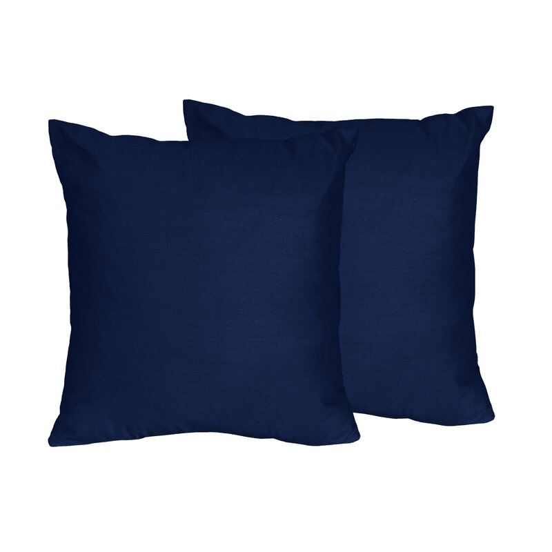 Sweet Jojo Designs Chevron Solid Navy Blue Throw Pillows   Reviews ... c7e4bcdfb1af