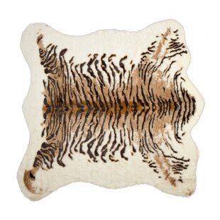 Reviews Natural Faux Cowhide Brown/Black Area Rug By Luxe