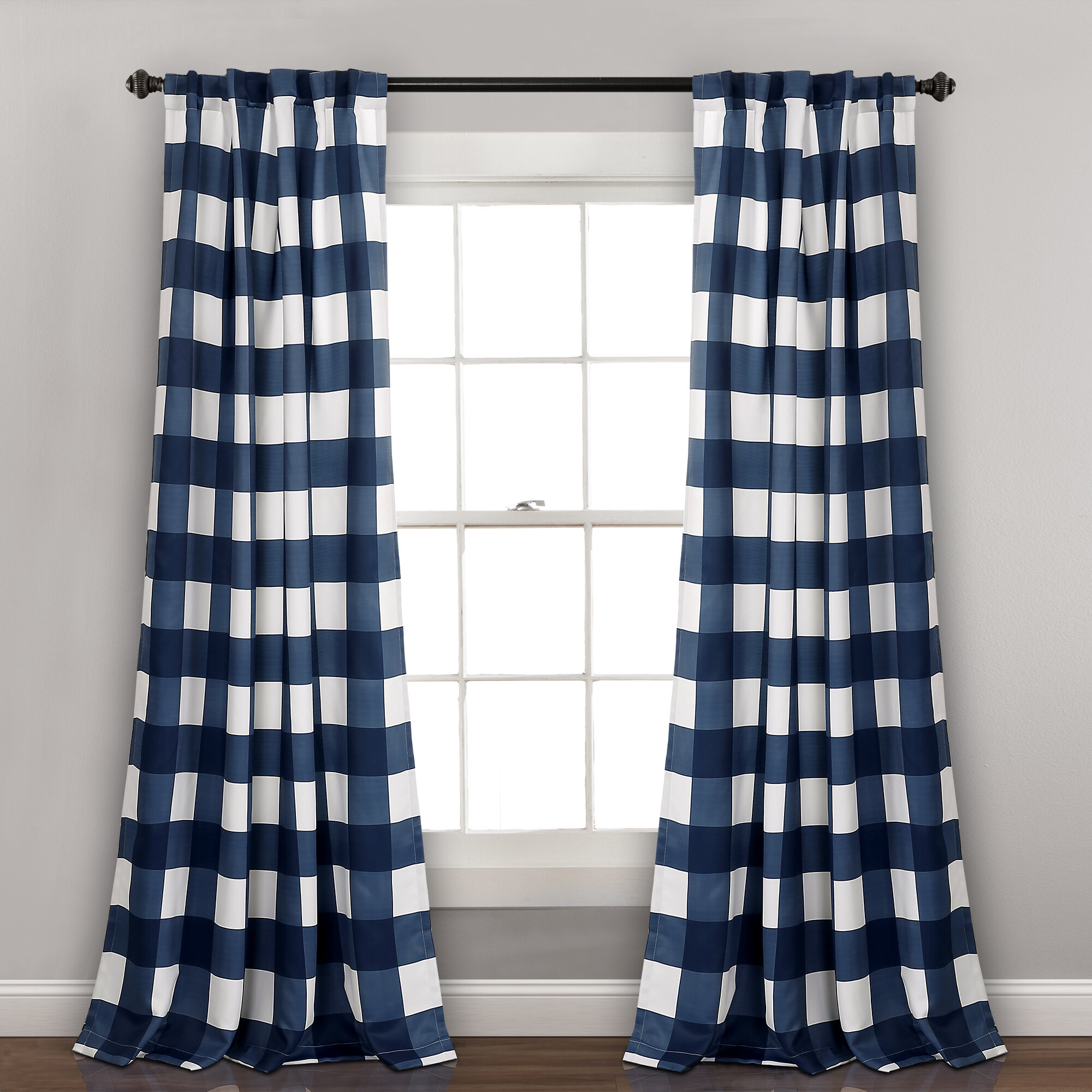 Check Plaid Curtains Drapes Free Shipping Over 35 Wayfair