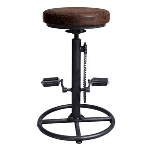Williston Forge Givens Adjustable Height Swivel Bar Stool