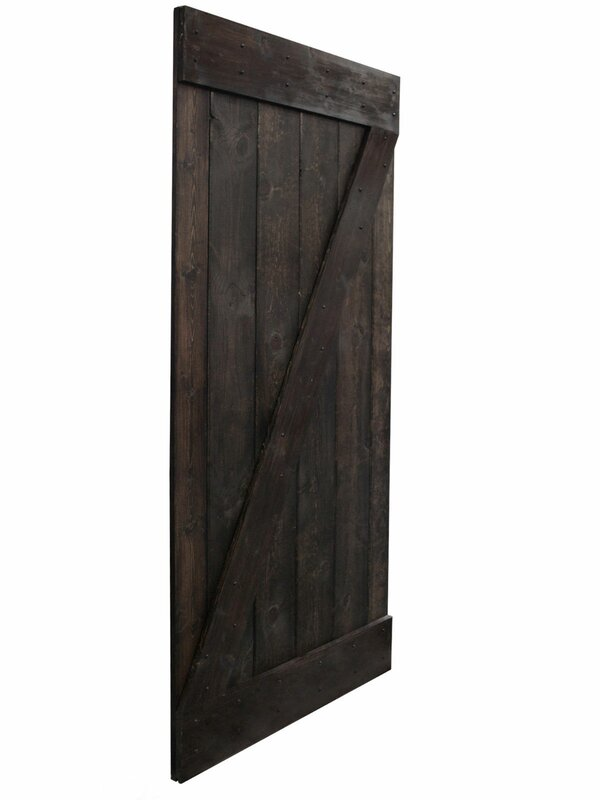 Calhome Solid Wood Panelled Pine Interior Barn Door Reviews Wayfair