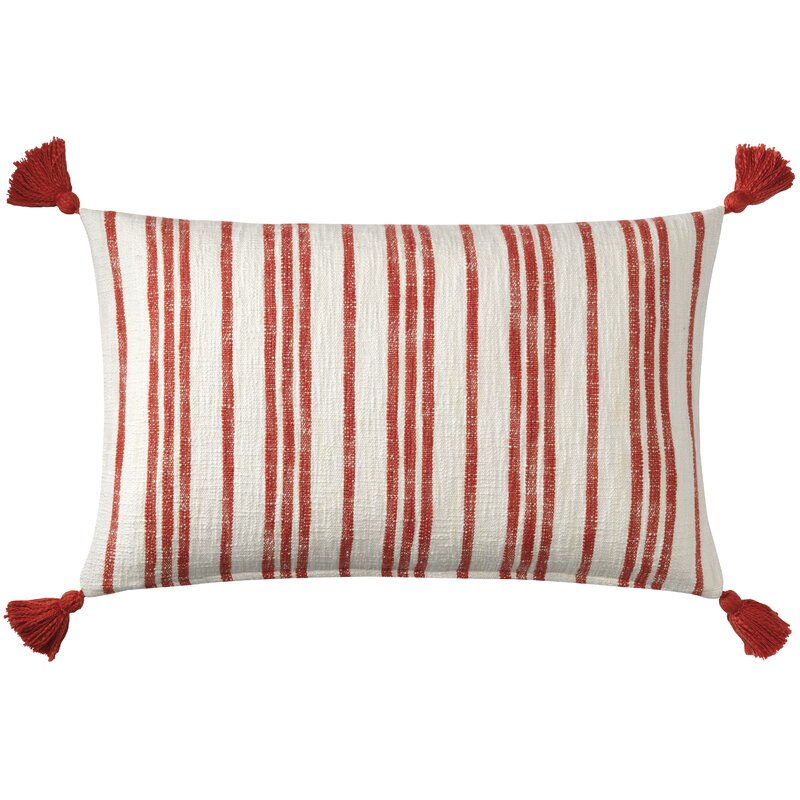Grain Sack Cotton Lumbar Pillow