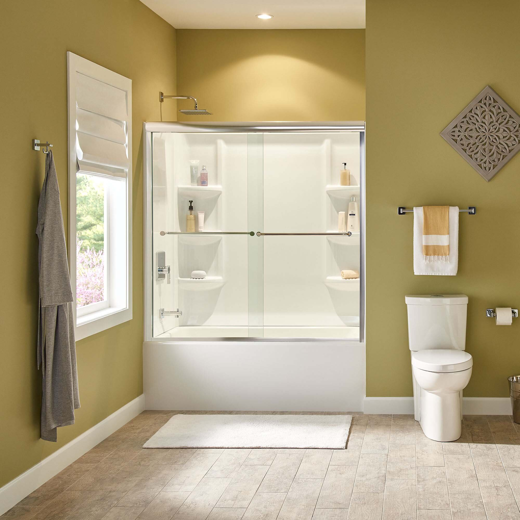 American Standard Studio 58 X 60 X 32 3 Panel Shower Wall Wayfair