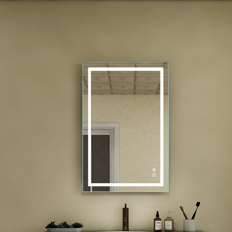 Orren Ellis Dinwiddie Modern And Contemporary Lighted Bathroom Vanity Mirror Reviews Wayfair