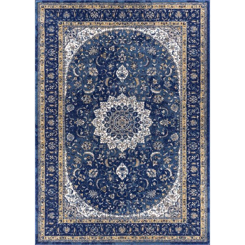 Well Woven Teppich Luxbury Mahal Medallion in Blau & Bewertungen ...