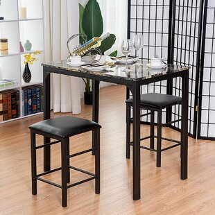 Mitzel 3 Piece Dining Set by Winston Porter