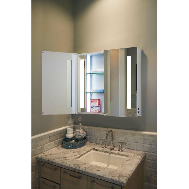 Red Barrel Studio Obryan 16 X 20 Recessed Medicine Cabinet With Led Lighting Reviews Wayfair