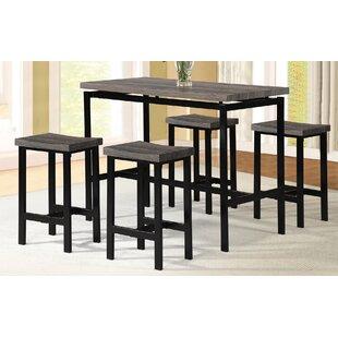 Denzel 5 Piece Counter Height Breakfast Nook Dining Set Wrought Studio