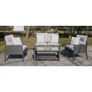 Bayern 4 Piece Sofa Seating Group with Cushions