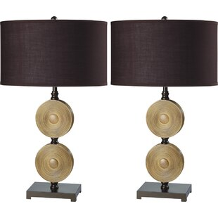 Espresso Two Chime Solid 29 Table Lamp (Set of 2)