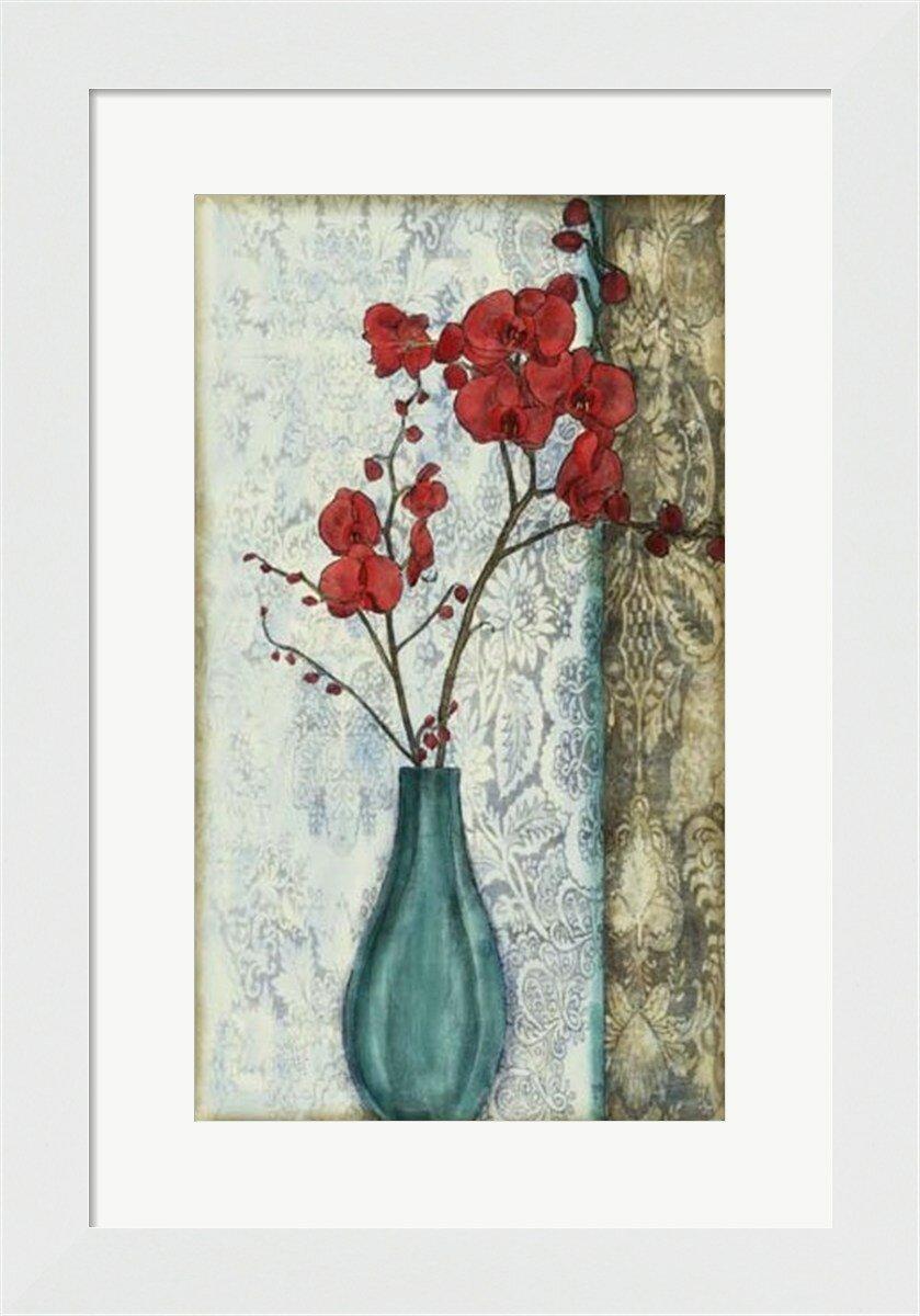 Evive Designs Small Orchid Opulence I P By Jennifer Goldberger Framed Graphic Art Wayfair