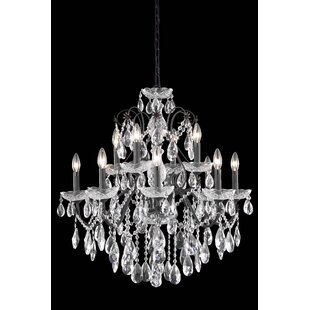 Rosdorf Park Thao 12-Light Chain Candle Style Chandelier