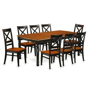 Pimentel 9 Piece Solid Wood Dining Set
