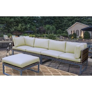 Honeycutt Patio Sofa with Cushions by Brayden Studio