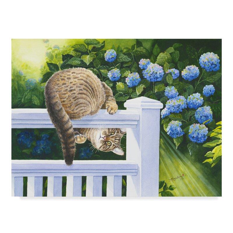 Winston Porter Peek A Boo Floral Acrylic Painting Print On Wrapped Canvas Wayfair
