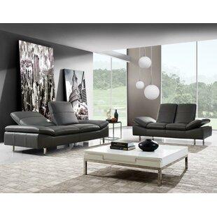 Aedan 2 Piece Leather Living Room Set by Wade Logan