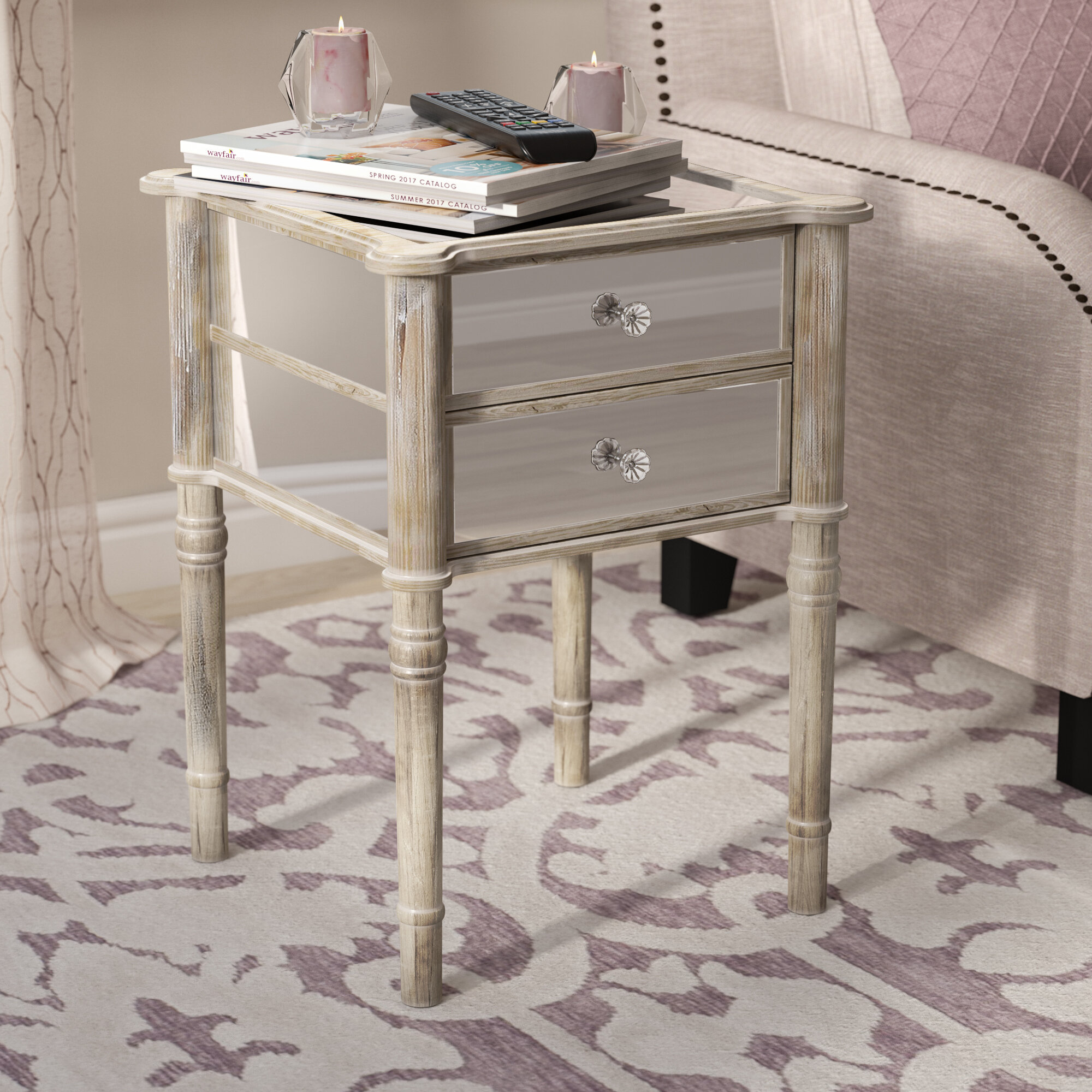 Extended Cyber Monday Sale On Mirrored Nightstands  Wayfair