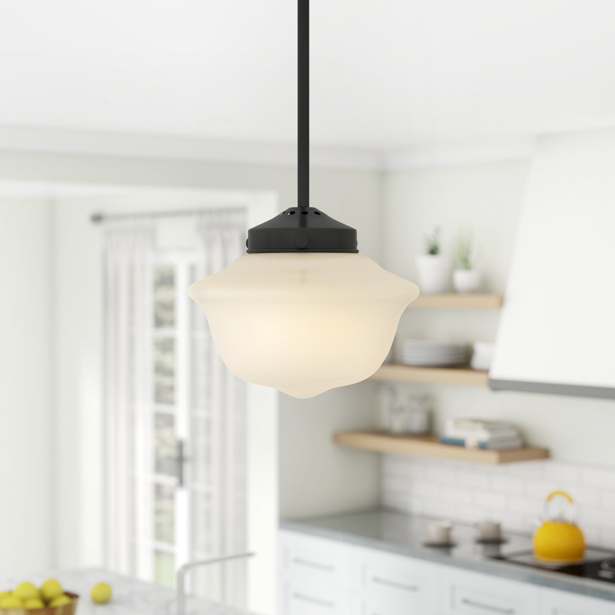 Hildred 1-Light Single Schoolhouse Pendant