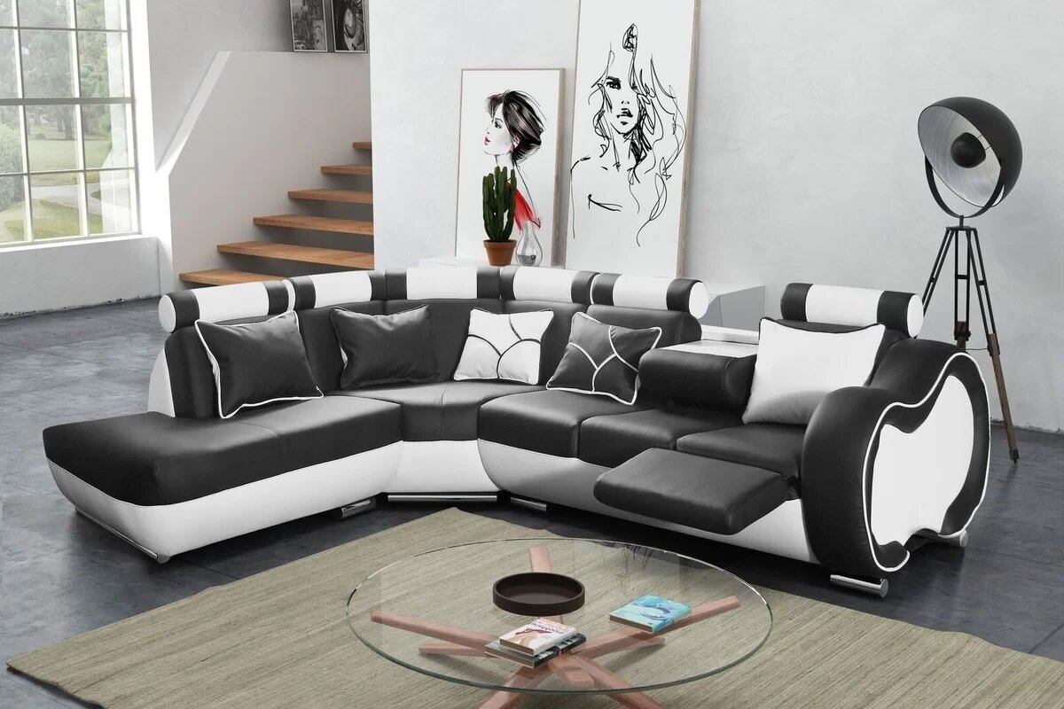 Hokku Designs Ecksofa Devola Mit Relaxfunktion Wayfairde