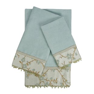 Embellished 3 Piece 100% Cotton Towel Set by Sherry Kline #2