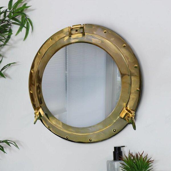 """20/"""" Aluminum Porthole Copper Finish~Port Window Ship Porthole With Round  Mirror"""