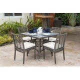 5 Piece Dining Set with Sunbrella Cushions