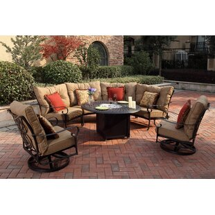 Darby Home Co Lanesville 7 Piece Conversation Set with Cushions