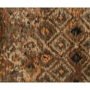 Xavier Rustic Hand-Knotted Brown Area Rug