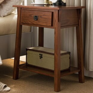 Compare prices El Cerrito Mission Style 1 Drawer Nightstand by Loon Peak