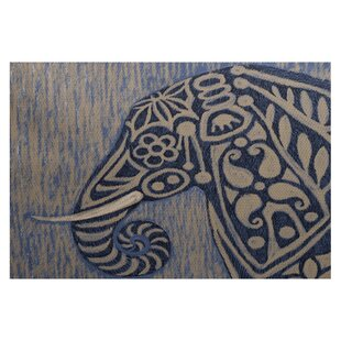 Essehoul Print Blue Indoor/Outdoor Area Rug