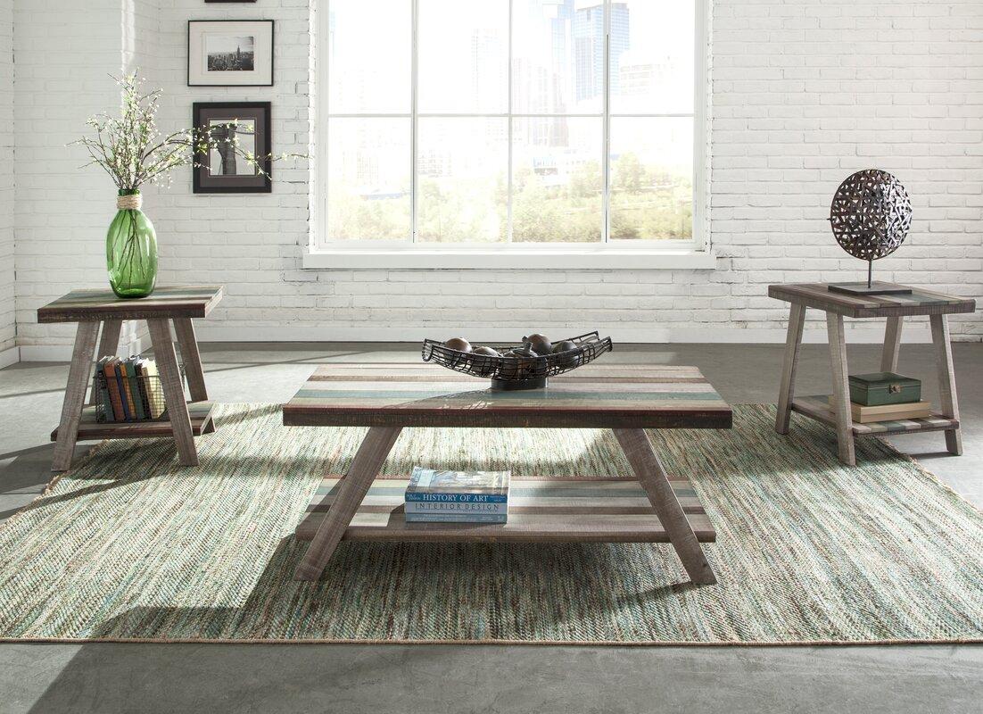 Loon Peak Halfeti 3 Piece Coffee Table Set & Reviews | Wayfair