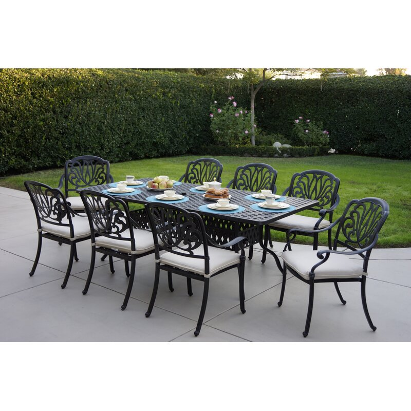 Darby Home Co Keyes 9 Piece Dining Set with Cushions