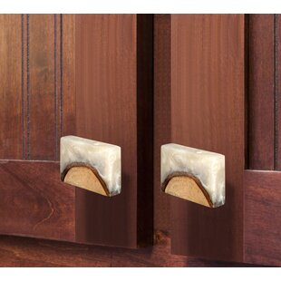 Frosted Timber Resin Cabinet Square Knob (Set of 8)