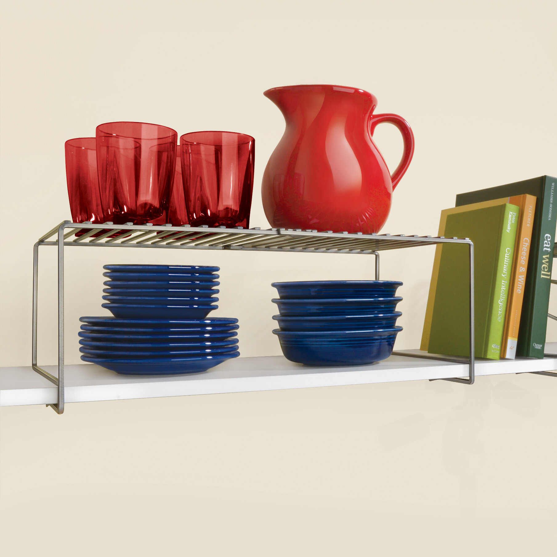 Lynk Expandable Locking Extra Shelf   Adjustable Closet Shelf Organizer U0026  Reviews   Wayfair
